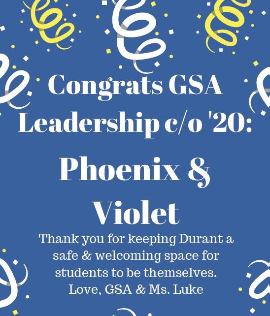 Congrats GSA 2020!