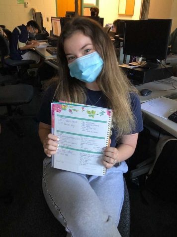 Karlie Lefor uses her planner to manage stress.