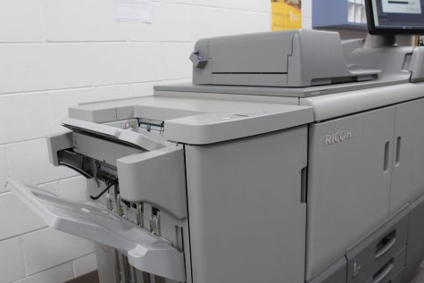 The Durant High School copy machine located in student affairs