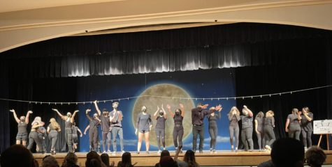 Durant Theatre Company, Troup 5444, takes a bow after their final performance of Too Much Light Makes The Baby Go Blind